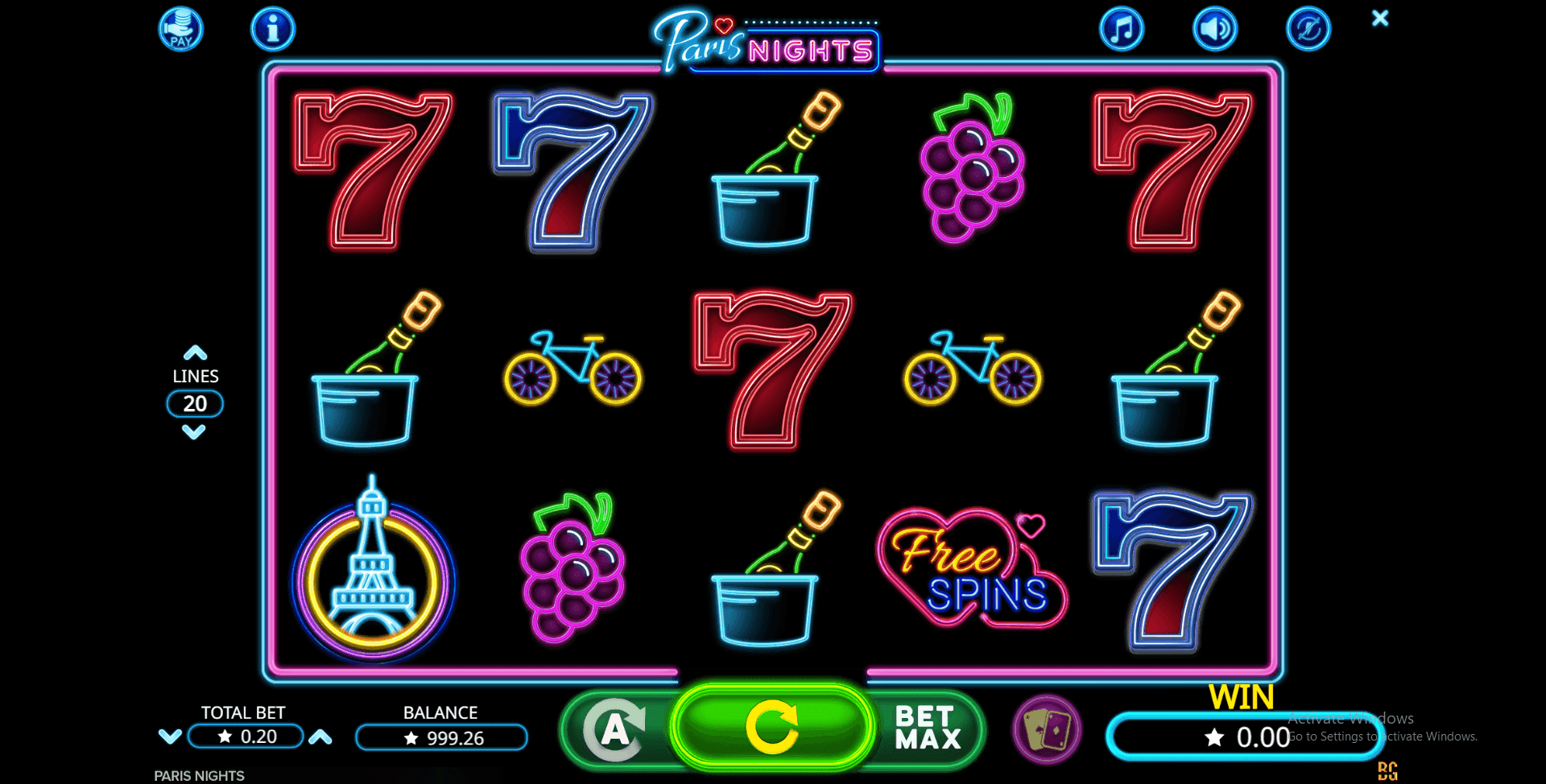 Paris Nights - slot SoftGamings
