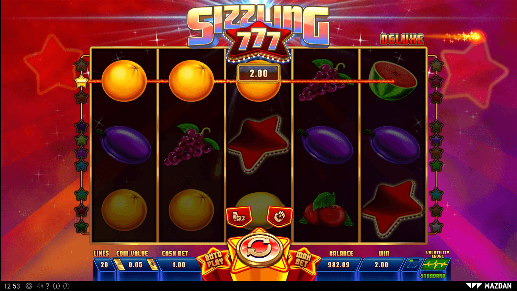 Sizzling 777 Deluxe SoftGamings